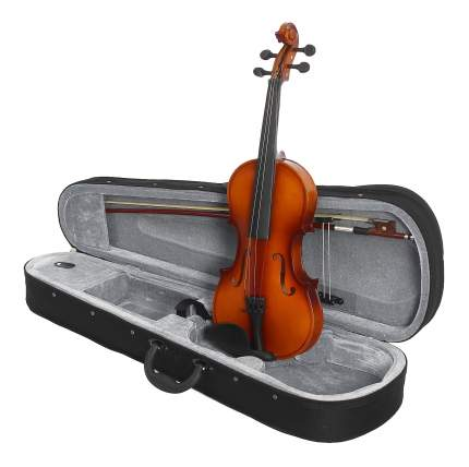 Cкрипка в комплекте с подбородником Brahner Bv-300 3/4, футляром, смычком и канифолью