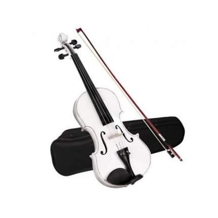 Скрипка Brahner Bvc-370/mwh 4/4, кейс и смычок в комплекте Белый металлик