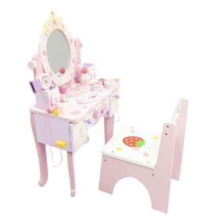 Туалетный столик с зеркалом и стульчиком iQween BC-118 для девочки