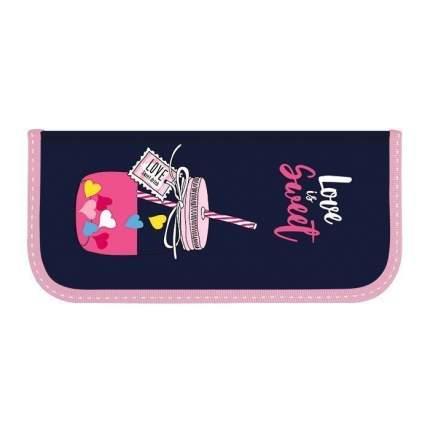 """Пенал односекционный """"Sweety"""", 190х90 мм schoolФ, цвет черный, розовый"""
