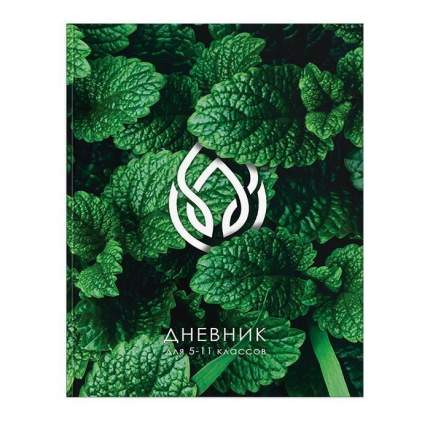 """Дневник для старших классов """"Символы природы"""", цвет зеленый"""