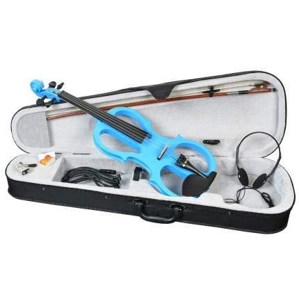 Электроскрипка размер 4/4 Antonio Lavazza Evl-01 Bl , цвет голубой,  контурная