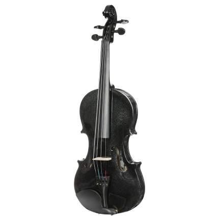 Чёрная скрипка Antonio Lavazza Vl-20/bk 1/4 , кейс,  смычок и канифоль в комплекте