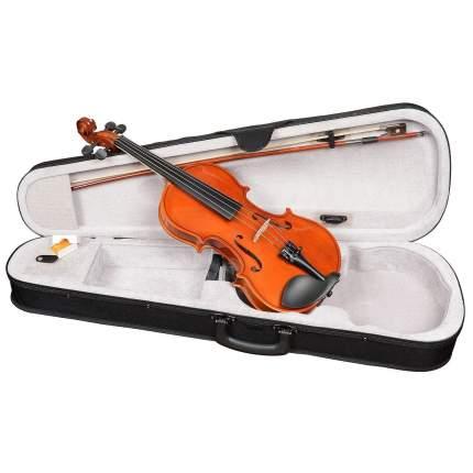 Скрипка размер 1/16 Antonio Lavazza Vl-28 1/16, кейс,  смычок и канифоль в комплекте