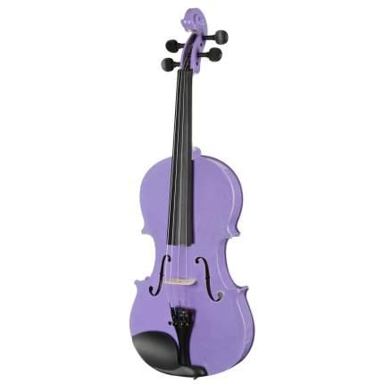 Фиолетовая скрипка Antonio Lavazza Vl-20/rr 1/8 , кейс,  смычок и канифоль в комплекте
