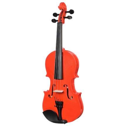 Красная скрипка Antonio Lavazza Vl-20/rd 3/4 , кейс,  смычок и канифоль в комплекте