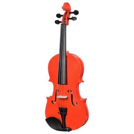 Красная скрипка Antonio Lavazza Vl-20/rd 1/2 , кейс,  смычок и канифоль в комплекте