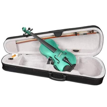 Зелёная скрипка Antonio Lavazza Vl-20/gr 3/4 , кейс,  смычок и канифоль в комплекте