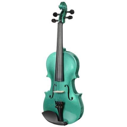 Зелёная скрипка Antonio Lavazza Vl-20/gr 1/2 , кейс,  смычок и канифоль в комплекте