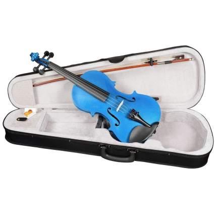 Синяя скрипка Antonio Lavazza Vl-20/bl 1/4 , кейс,  смычок и канифоль в комплекте
