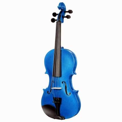 Синяя скрипка Antonio Lavazza Vl-20/bl 1/2 , кейс,  смычок и канифоль в комплекте