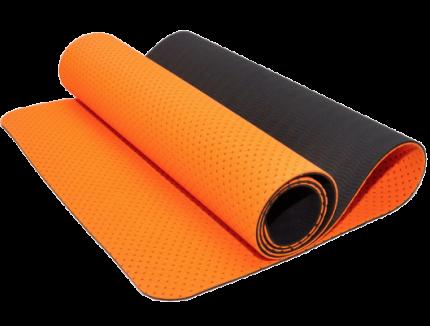 Коврик для йоги и фитнеса: TJD-FO066 (Оранжево-чёрный - Ч+ОРН)