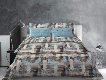 Комплект постельного белья Семейный Galtex Комфорт Гранж бирюзовый