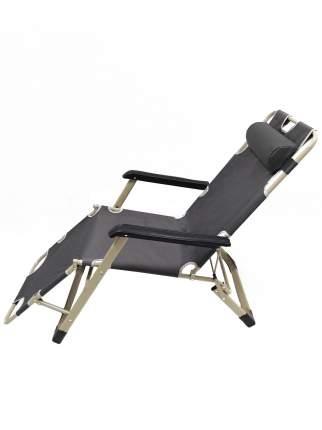 Раскладушка кресло-кровать с матрасом URM, 178х52х38 см, черная