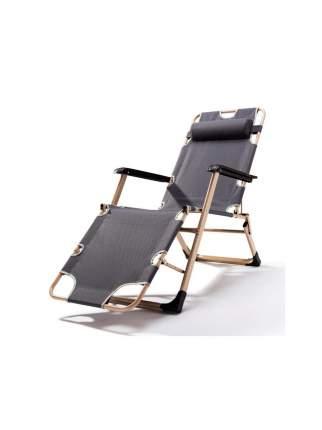Раскладушка кресло-кровать с подушкой URM, 178х52х38 см, серая
