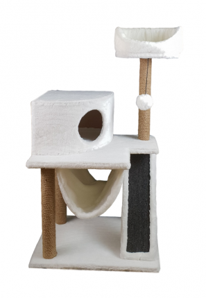 Комплекс для кошек Syndicate, белый, 4 уровня