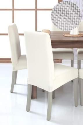 Чехол на стул без оборки Venera, белый, 1 предмет