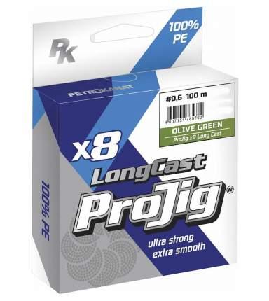 Шнур ProJig X8 Long Cast 0,12 мм, 9,0 кг,  100 м, хаки