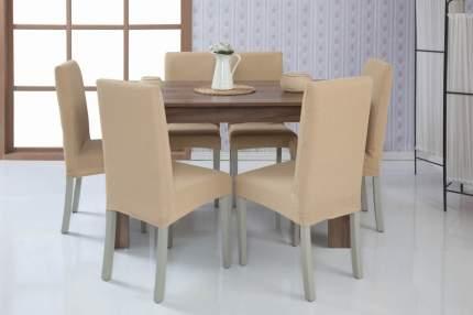 Чехол на стул без оборки Venera, светло-бежевый, 1 предмет