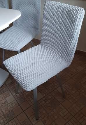 Чехол на стул без оборки Venera, серый, 1 предмет