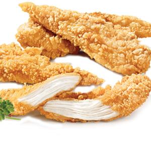 Стрипсы в панировке куриные Золотой Петушок замороженные 6 кг