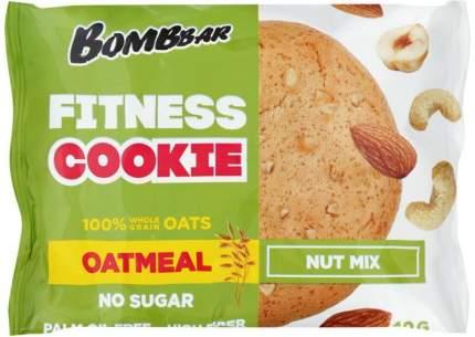 Печенье BombBar овсяное Ореховый микс не глазированное 40 г