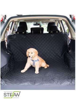 Авто-гамак для домашних животных большой STEFAN для багажника, черный 135x205см