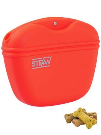 Сумочка для лакомств силиконовая STEFAN, красная, WF37712