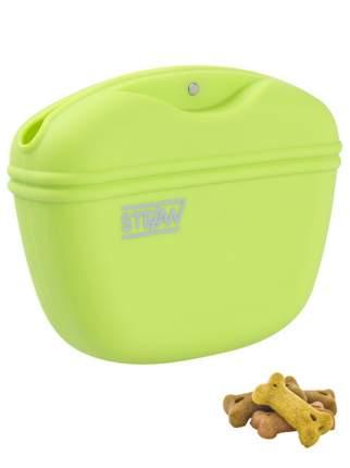 Сумочка для лакомств силиконовая STEFAN,салатовая, WF37706