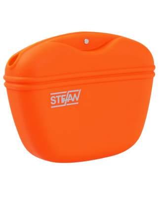Сумочка для лакомств силиконовая STEFAN, оранжевая, WF37705