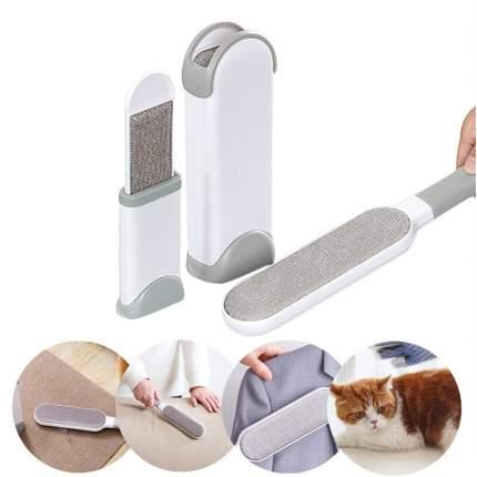Самоочищающаяся щетка Baziator для удаления шерсти животных и волос с одежды и мебели