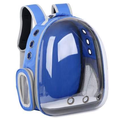 Рюкзак для кошек и собак Baziator Иллюминатор с вентиляцией для воздуха 18x31x42см синий