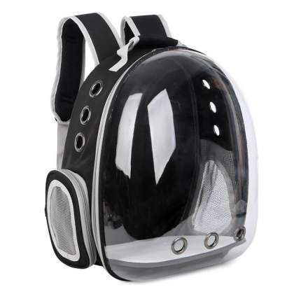 Рюкзак для кошек и собак Baziator Иллюминатор с вентиляцией для воздуха 18x31x42см черный