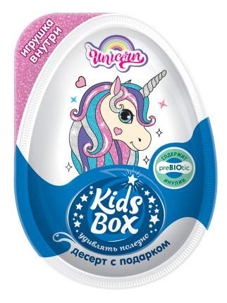 Десерт Kids Box Unicorn с подарком молочный 20 г