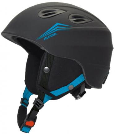 Горнолыжный шлем Alpina Junta 2.0 2021, black/cyan matt, S/M