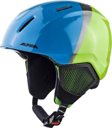 Горнолыжный шлем Alpina Carat Lx 2021, green/blue/grey, S/M