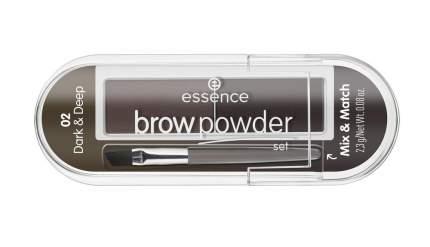 Тени для бровей Essence Brow Powder Set 02 brunette