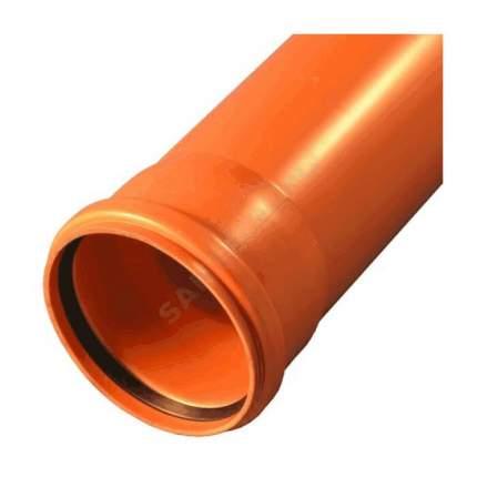 Труба НПВХ с раструбом коричневая Дн 110х3,2 б/нап L=0,5м в/к KGEM SN4 Ostendorf 220000