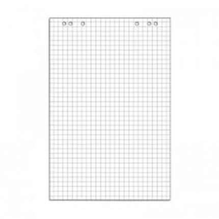 Блок для флипчарта, 67,5x98 см, 20 листов, в клетку, цвет белый