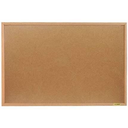 Доска пробковая, с деревянной рамой, 90x60 см., inФОРМАТ, цвет коричневый