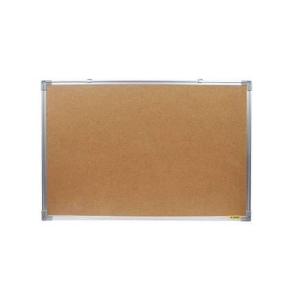Доска пробковая, с алюминиевой рамой, 60x45 см., inФОРМАТ, цвет коричневый