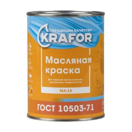 """Краска МА-15 серая 0,9 кг  """"Krafor"""""""