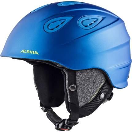 Горнолыжный шлем Alpina Grap 2.0 2021, blue/neon/yellow matt, S/M