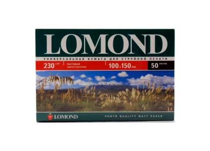 Фотобумага для принтера Lomond A6 230г/кв.м матовое покрытие 500 л 102084