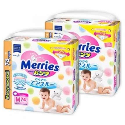 Merries Набор трусиков ультра M (6-11 кг) 74 шт х 2 уп