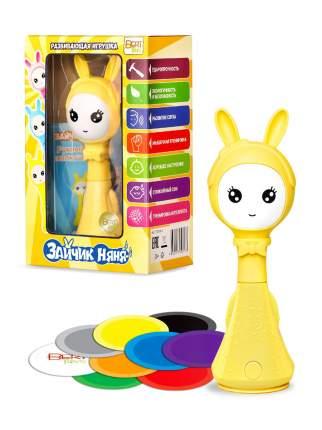 Музыкальная развивающая и обучающая игрушка-погремушка BertToys Умный Зайчик Няня желтый