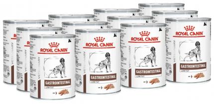 Консервы для собак ROYAL CANIN Vet Diet Gastro Intestinal Low Fat, птица, 12шт, 410г