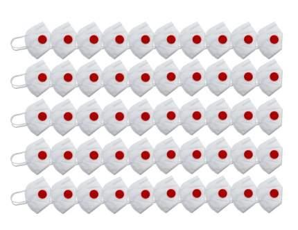 Респиратор универсальный с красным клапаном FFP3,KN99,50 шт.