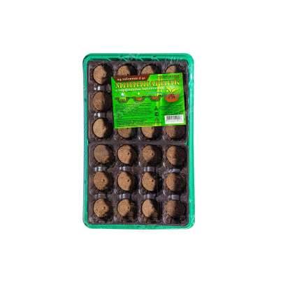 Парник с торфяными таблетками 24 ячеек (комплект) 24х17х5,0
