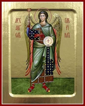 Икона Архангела Гавриила (ростовая) на дереве. 125 х 160